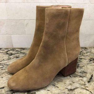 ! J.Crew $178 Sadie Ankle Boots Suede Shoes K0039